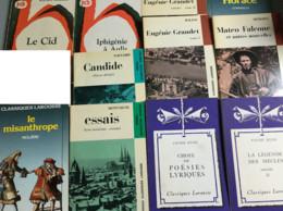26 Classiques Larousse (17) & Bordas (9) : Balzac/Beaumarchais/Corneille/Euripide/Hugo/Maivaux/Mérimée/Molière/Montaigne - Paquete De Libros
