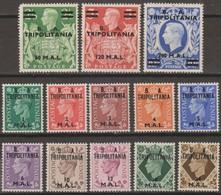 Tripolitania B.A.1950 SaN°14-26 13v Cpl MNH/** - Tripolitaine
