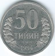 Uzbekistan - 1994 - 50 Tyin - KM6.2 - Beaded Rim - Uzbenisktán