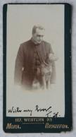 Photo CDV Pasteur Brighton Avec Son Chien Pastor With His Dog - Foto's