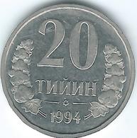 Uzbekistan - 1994 - 20 Tyin - KM5.1 - Beaded Rim - Uzbenisktán