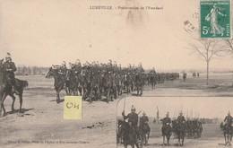 LUNEVILLE 54 Présentation De L'Etendard  Belle Animation (1912) - Manoeuvres