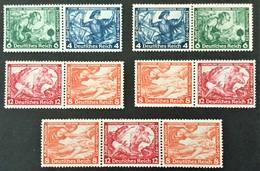 1933 Deutsche Nothilfe  :  Wagner(*) Mi. W 47, W 49, W 55, W 57, W 58 - Se-Tenant