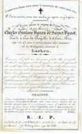 AIX-la-CHAPELLE / LAEKEN - Charles Gustave Baron De SAINCT-VAAST - Décédé 1844 - Enterré à Laeken - Images Religieuses
