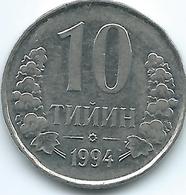 Uzbekistan - 1994 - 10 Tyin - KM4.2 - Beaded Rim - Uzbenisktán