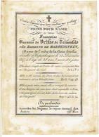 COPENHAGUE - KOPENHAGEN - Françoise Baronne De VRINTS De TREUENFELD, Née Baronne De BARTENSTEIN  - Décédée 1847 - Images Religieuses