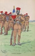 TIRAILLEURS SENEGALAIS N°251 Illustrateur Pierre Albert LEROUX (1890-1959) - Uniformen