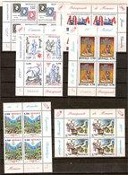 (Fb).Monaco.2000/2004.Lotto Di Quartine Nuove,gomma Integra,MNH (72-20) - Monaco