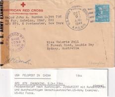 1944  POSTE MILITAIRE/FELDPOST  US ARMY CENSUREE  DE CHUNKING (VOIR DESCRIPTIF) - Vereinigte Staaten
