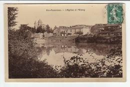 VIC-FEZENSAC (Gers) - L'Eglise Et L'Etang - CPA - Glacée - 1910 - - Vic-Fezensac