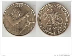 West Africa 25 Francs 1997  Km 9  Unc - Monedas