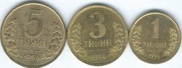 Uzbekistan - 1994 - 1, 3, & 5 Tyin (KMs 1-3) - Uzbenisktán
