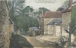 CPA 91 Essonne Viry-Châtillon Rue De La Fontaine Saint Denis - Viry-Châtillon