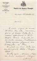 Lettre Du Maire Du Boissy-Maugis (61), 12/9/1939 - Historical Documents