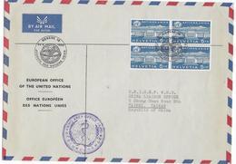 SUISSE - SERVICE / NATIONS UNIES - 1960 - ENVELOPPE GF Par AVION De GENEVE => UNICEF WHO De TAIPEI (REPUBLIC OF CHINA) ! - Officials