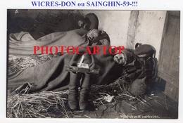 WICRES-DON Ou SAINGHIN-!!-Voir Texte Au Dos-CARTE PHOTO Allemande-Guerre 14-18-1 WK-FRANCE-Militaria- - France