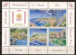 """(Fb).Monaco.1999.""""Realizzazioni E Progetti"""".Foglietto Nuovo,gomma Integra,MNH (74-20) - Monaco"""