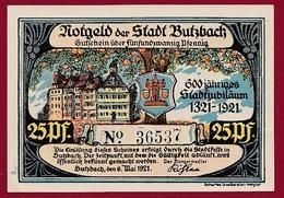 Allemagne 1 Notgeld 25 Pfenning Stadt Butzbach (RARE) Dans L 'état Lot N °6071 - [ 3] 1918-1933 : République De Weimar