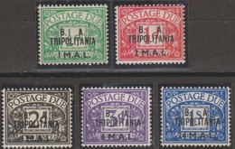 Tripolitania B.A.1950 Segnatasse SaN°6-10 5v Cpl MNH/** - Tripolitania