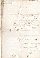 """-MILITAIRE -- """"Note D'une Commission Provisoire"""".-Signée Du Grand Général 'Laurent GIOVANNINELLI' En 1871"""" - - Documents Historiques"""