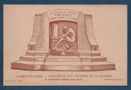 COSNE SUR LOIRE - Monument Aux Victimes De La Guerre - Cosne Cours Sur Loire