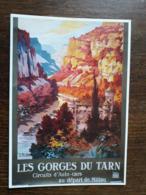L27/1185 Les Gorges Du Tarn . Circuits Auto-cars Au Départ De Millau. Repro Affiche Ancienne - Francia