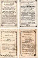E8.  4 Doodsprentjes Ieper + 1872 - 1891 - Devotieprenten
