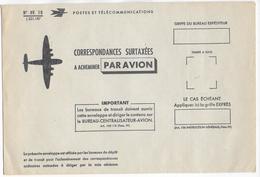 POSTE AERIENNE - ENVELOPPE Des PTT Pour ACHEMINER Par AVION Les CORRESPONDANCES SURTAXEES ! - Poste Aérienne