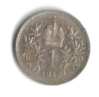 Österreich 1 Krone 1913 Kaiser Franz Joseph I. Silber 835 - Autriche