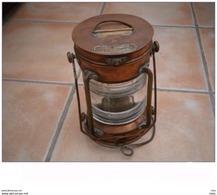 Lanterne Tung Woo Cuivre, Laiton Et Verre 22 Cm Hauteur Diamètre 14 Cm - Lamps
