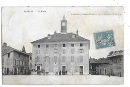 38  - CPA  PIONNIERE  De   MOIRANS  -  La  Mairie  ,  Café  ALLEMAND  En  1903  (  Animée  ) - Moirans