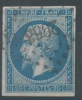 Lot N°55495  N°14B, Oblit PC 2063 Montauban, Tarn-et-Garonne (85), Bonnes Marges - 1853-1860 Napoleon III