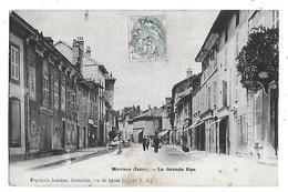 38  - CPA  De   MOIRANS  - La  Grande  Rue  En  1904  (  Animée  ) - Moirans