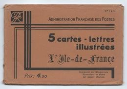 POCHETTE COMPLETE 5 CARTES LETTRES Entiers Postaux  ILE DE FRANCE Edition YVON - Letter Cards