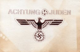 DC1546 - Hakenkreuz WW2 Propaganda Achtung Juden REPRO - War 1939-45