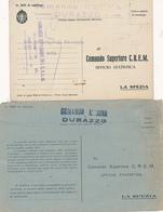 1942 R MARINA ITALIANA COMANDO DURAZZO ALBANIA 3 ANNULLI DIFFERENTI - 1900-44 Vittorio Emanuele III