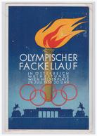 DT- Reich (003634) Propagandakarte, Olympischer Fackellauf, Mit Propagandastempel Blanco Gestempelt Vom 29.7.1936 - Lettres & Documents