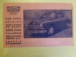 Automobile FREGATE Renault 1953 (production Maire, Accessoires Chromés) Ref 1720 ; BU 02A - Buvards, Protège-cahiers Illustrés