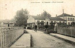 CPA RARE CUZORN L'ECOLE COMMUNALE - Other Municipalities