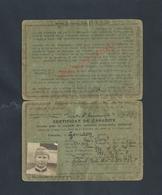 MILITARIA PERMIS DE CONDUIRE  MILITAIRE AVEC PHOTO  DE GOURDES JEAN NÉ À RIANTEC MORBIHAN : - Documents
