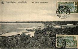 CONGO BELGE LEOPOLDVILLE VUE PRISE DU MONT LEOPOLD TIMBRE NO 51 YT - Kinshasa - Léopoldville