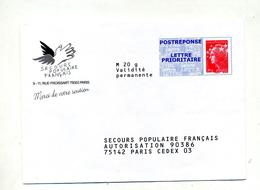 Pap Reponse  Beaujard Secours Populaire - Postal Stamped Stationery