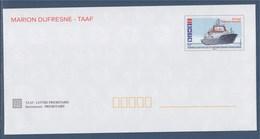 Bateaux Des Terres Australes Et Antarctiques 4 Enveloppes, Entier Neuf Marion Dufresne, Nivôse, Champlain, L'Astrolabe - Enteros Postales