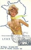 Cycling - Cyclisme - Radsport  -  TOUR DE FRANCE  -  Carte Postale - 20ème Étape 26 Juillet 1956 St-ÉTIENNE-LYON - Cycling