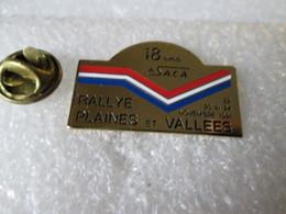 PIN'S    RALLYE  PLAINES ET VALLEES 1991 - Rallye