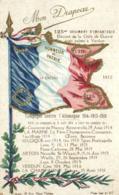 E 0203 - Mon Drapeau   Honneur Et Patrie  125° Régiment D'Infanterie  Campagne Contre L'Allemagne  1914-1915 1916 - Bandiere