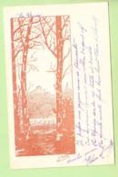 A. DUPUIS 1901 - Lithographie - La Clairière Vue à Travers Les Arbres - Dos Simple - 2 Scans - Künstlerkarten