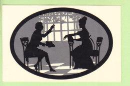 BARTAJOS - SILHOUETTE Collée - La LECTURE - Couple Assis Devant La Fenêtre - TBE - 2 Scans - Silhouette - Scissor-type