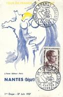 Cycling - Cyclisme - Radsport  -  TOUR DE FRANCE  -  Carte Postale - NANTES ( Départ ) 1ère étape 27.7.1957 - Cycling