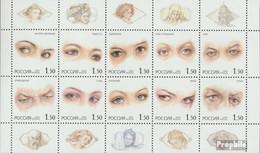 Russland 1024-1033 Kleinbogen (kompl.Ausg.) Postfrisch 2002 Gefühle In Den Augen - Ongebruikt